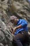 Scalatore della montagna Immagini Stock