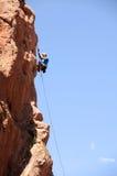 Scalatore della roccia Immagini Stock