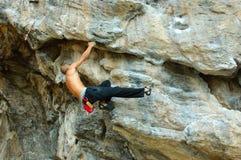 Scalatore della roccia Fotografia Stock Libera da Diritti