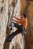 Scalatore della roccia Immagine Stock