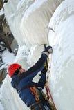 Scalatore di ghiaccio Fotografie Stock Libere da Diritti