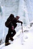 Scalatore di ghiaccio Himalayan Fotografia Stock