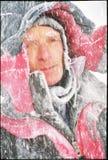 Scalatore di inverno di congelamento Fotografie Stock Libere da Diritti