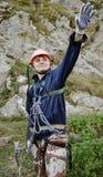 Scalatore di montagna Immagine Stock