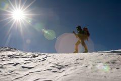 Scalatore di montagna Fotografia Stock Libera da Diritti
