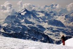 Scalatore di montagna Fotografia Stock