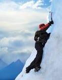 Scalatore di montagna Immagini Stock
