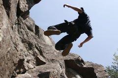 Scalatore di roccia Immagini Stock
