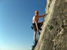 Scalatore di roccia Immagine Stock Libera da Diritti