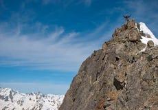 Scalatore nella montagna Immagine Stock