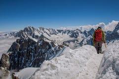 Scalatori in alpi francesi Chamonix Mont Blanc Immagine Stock Libera da Diritti