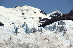 Scalatori del ghiaccio di Patagonia Fotografia Stock