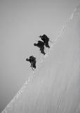 Scalatori della montagna Immagine Stock