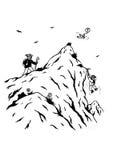 Scalatori di montagna divertenti (2007) Immagine Stock Libera da Diritti