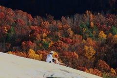Scalatori di pietra del parco di stato della montagna fotografia stock libera da diritti