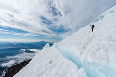 Scalatori sul monte Rainier Immagini Stock