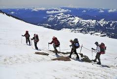 Scalatori sul monte Rainier, Washington Immagini Stock Libere da Diritti