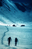 Scalatori in valle della cavalla di Sambata Immagini Stock