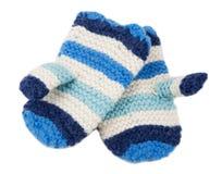Scaldi i guanti del knit immagini stock