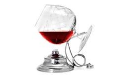 Scaldino del brandy e del cognac Fotografie Stock