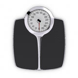 Scale. Bathroom Scale. Clipping path included Royalty Free Stock Photo