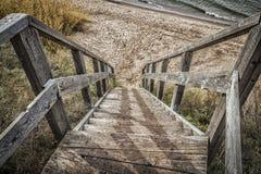 Scale alla spiaggia Fotografie Stock Libere da Diritti