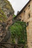 Scale alle più alte parti del castello Fotografia Stock Libera da Diritti