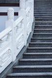 Scale alte in tempio cinese Fotografie Stock