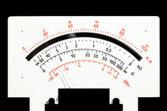 Scale analog multimeter Royalty Free Stock Photo