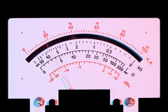 Scale analog multimeter Royalty Free Stock Photos