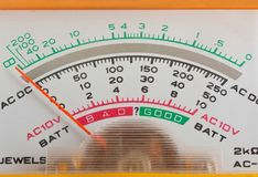 Scale analog multimeter Stock Images