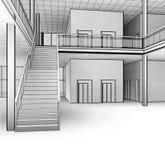 Scale architettoniche di schizzo fotografia stock libera da diritti