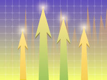 Scale. The arrows on the chart background on the subject of business or Finance Stock Image