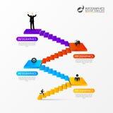 Scale astratte 3d Infographic o modello di cronologia Vettore Immagine Stock