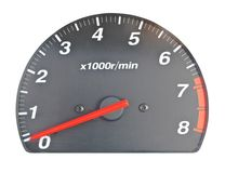Scale av motorhastighet Arkivfoton