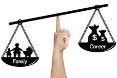 Scale Balance Family Career Hand Holding Isolated Stock Photos