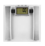 Scale. Bathroom scale isolated on a white background Stock Photo