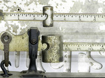 Scale Beam. Beam on Scale (balance) shows weight royalty free stock photos