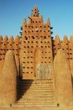 Scale che portano alla moschea di Djenne Fotografia Stock