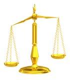Scale classiche di giustizia Fotografie Stock Libere da Diritti