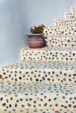 Scale con il flower-pot Fotografia Stock Libera da Diritti
