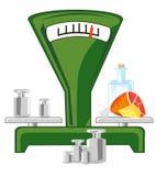 Scale con l'illustrazione di vettore del prodotto e del carico illustrazione vettoriale