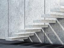 Scale concrete bianche 3d rendono l'illustrazione illustrazione vettoriale