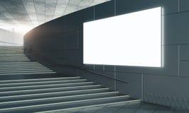 Scale concrete con il manifesto vuoto Fotografia Stock
