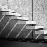 Scale concrete con il modello dell'ombra 3d rendono illustrazione di stock
