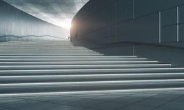 Scale concrete con luce solare illustrazione di stock