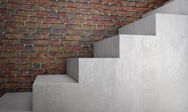 Scale concrete sul muro di mattoni rappresentazione 3d royalty illustrazione gratis