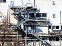 scale d'acciaio della costruzione della fabbrica immagine stock