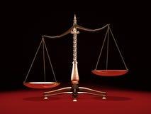 Scale d'ottone del peso royalty illustrazione gratis