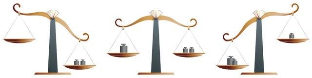 Scale d'ottone dell'equilibrio Fotografie Stock Libere da Diritti